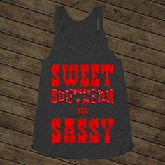 Sweet Southern And Nasty on a Tri Blend Black Racerback – Backwood Apparel #southern #south #country #girl #girls #women #cowgirl #sweetsouthernandsassy #sass #cute #funny #rebel #belle #shirt #tank #top $24.00