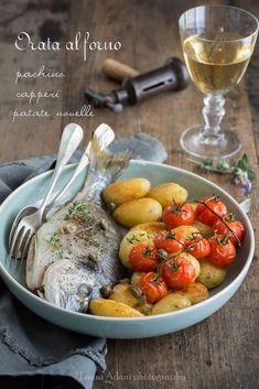 io...così come sono...: Orata al forno con pachino, capperi e patate novel...