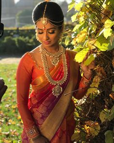 bridal jewelry for the radiant bride Tamil Wedding, Bollywood Wedding, Punjabi Wedding, Saree Wedding, Bridal Sarees, South Indian Bride, Indian Bridal, Bridal Beauty, Bridal Makeup