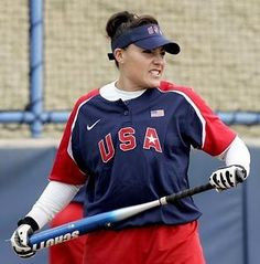 Lisa Fernandez. My idol and role model growing up. I dare ANYONE to mess with her. Game changer of softball right here!!!