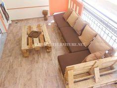 Sofa für Terrasse mit Paletten