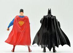 2pcs/set Superman VS Batman Action Figures Dawn of Justice Movie Comic Heroes Toys 18CM Collections Best Gift