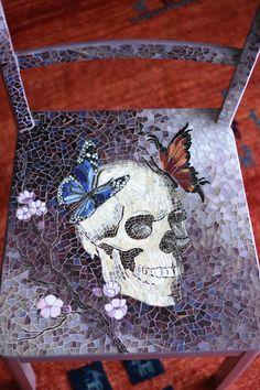 """Mosaic chair """"skull"""""""