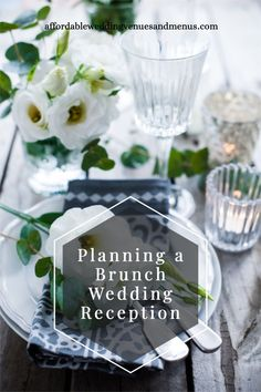 Trying to save money on your wedding reception? A brunch wedding can help you stick to your budget + still have a fun day. See brunch wedding ideas, brunch wedding reception food, brunch wedding food, brunch wedding timeline, brunch wedding dress, brunch wedding decor, brunch wedding cake, brunch wedding invitation, brunch wedding reception food buffet, brunch wedding ideas reception, brunch wedding menu, brunch wedding backyard, brunch wedding centerpieces, brunch wedding food stations. Fun Wedding Reception Ideas, Elegant Backyard Wedding, Diy Wedding Food, Wedding Reception Centerpieces, Brunch Wedding, Wedding Menu, Wedding Invitation, Fall Wedding, Wedding Decor