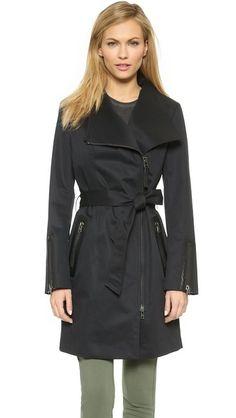 17bdc8964 Long cashmere-blend wrap coat - Black