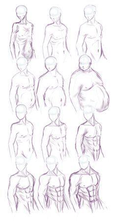 Diferentes tipos de cuerpos, del cuerpo masculino para tomar muchas referencias…   Drawing techniques   Pinterest   Upper body, Tutorials and Anatomy