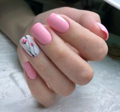 The Best Nail Art Designs & Ideas In This Compilation Tulip Nails, Flower Nails, Flower Nail Designs, Best Nail Art Designs, Nail Swag, Finger Nail Art, Shellac Nails, Nagel Gel, Cool Nail Art