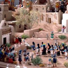 """Pueblo Feast Day,"" the Vigil family, Tesuque Pueblo, New Mexico, ca. 1960. Museum of International Folk Art (DCA), Santa Fe, New Mexico. Photo by Michel Monteaux."