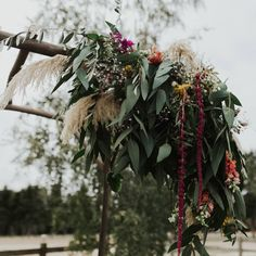 SUMMER WEDDING FLOWER ARCH F l o r a l S t y l i s t  (@pebbleanddot) Summer archway kind of vibes 🌿 Wedding Arch Flowers, Summer Wedding, Christmas Wreaths, Holiday Decor