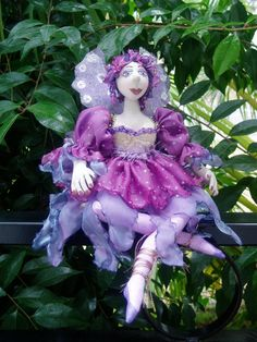 Instant DOWNLOAD E Pattern ISABO Seated Fairy by   Michelle Munzone of michelledolls on Etsy