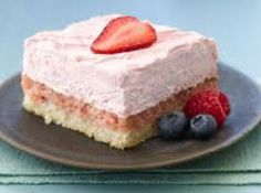 Strawberry Cream Squares