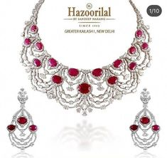 -Let vivid hues of crimson add unrivalled richness to your evening soiree. Red Jewelry, Luxury Jewelry, Wedding Jewelry, Fine Jewelry, Jewelry Necklaces, Jewlery, Lotus Jewelry, India Jewelry, Jewellery Box
