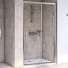 Aqualux Shine 6 Sliding Shower Door Polished Silver 1200 x 1900mm