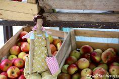 Angel Tilda Doll Autum Princess Fall by RoyalHandicrafts on Etsy Needlecrafts, Fabrics, Angel, Seasons, Dolls, Princess, Knitting, Create, Handmade