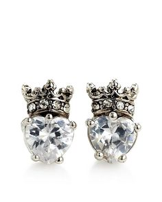 Heart Crown Studs  | Zeta Tau Alpha