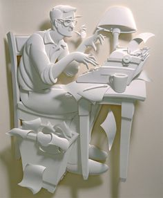 Jeff Nishinaka creates amazing three-dimensional sculptures out of paper.