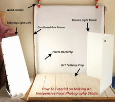 DIY Studio for about ten dollars! Take a look behind the scenes and learn how I create these yummy photos for my recipes!