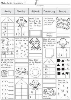 Math starter - week 7 and 8 1st Grade Worksheets, 2nd Grade Math, Maths Starters, Reto Mental, Spiral Math, Algebra Equations, Math Multiplication, Classroom Organisation, Math Word Problems