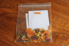 Make Pictures With Glue and Pasta (Busy Bag)