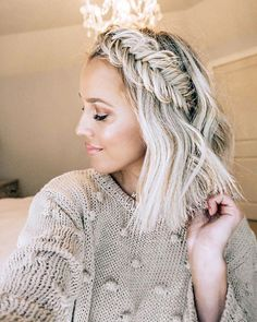 Fishtail Hairstyles, Pretty Hairstyles, Girl Hairstyles, Braided Hairstyles, Hairstyles Videos, Braided Updo, Protective Hairstyles, Wedding Hairstyles, Haircut Styles For Women