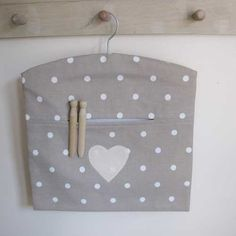 Beige with white Spots Peg Bag £8.99