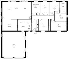 Mod le de plan de maison plain pied avec 3 chambres et for Plan maison positive