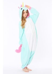 Blue Unicorn Animal Onesie | Kigurumi France - Animal Onesies Pajamas for Adult & Kids-Kigurumi France Pyjama Party- Animal Onesies Pajamas for Adult & Kids-FREE SHIPPING on everything at Kigurumi.fr, with no minimum purchase required.