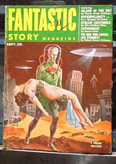FANTASTIC STORY MAGAZINE SEPTEMBER 1953 SCIENCE FICTION PULP ART PIN UP ART