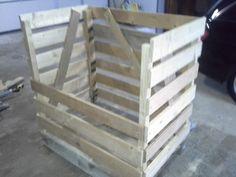 Bau einer Kiste aus einer Europalette für Brennholz. Jenga, Wood, Crafts, Wood Shed, Firewood, Home Living Room, Wooden Crates, Work Shop Garage, Manualidades