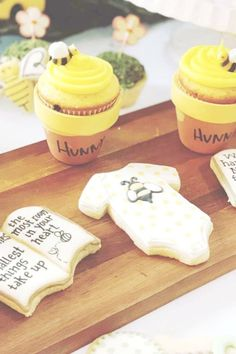 Don't miss this beautiful Winnie the Pooh Baby Shower! The cupcakes are gorgeous! See more party ideas and share yours at CatchMyParty.com  #catchmyparty #partyideas #winniethepooh #babyshower #boybabyshower #cupcakes #cookies Shower Party, Baby Shower Parties, Baby Boy Shower, Bridal Shower, Winnie The Pooh Cake, 80s Movies, Girl Birthday, Favors, Birthdays