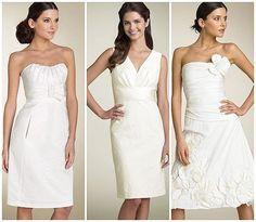 White simple Prom dresses