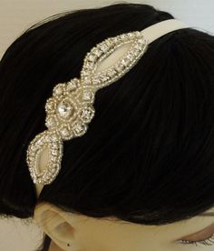 Vintage-Inspired Rhinestone Bridal Headband only $29.50 at www.BellaCescaBoutique.Etsy.com