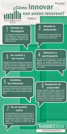 Cómo innovar con pocos recursos #infografia