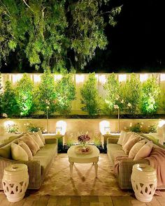 Home Exterior Decorating with Outdoor lighting Outdoor Lighting Landscape, Backyard Lighting, Small Backyard Landscaping, Backyard Patio, Restoration Hardware Outdoor Furniture, Landscape Design, Garden Design, Outdoor Living, Outdoor Decor