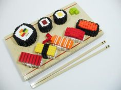 lego sushi elements -- wow brilliant. Time to eat?