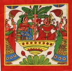 Phad Rajasthan Miniature Art Handmade Indian Folk Maharajah Scroll Painting