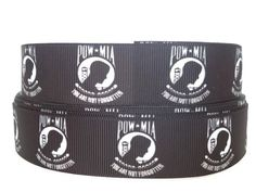 This listing is for Grosgrain Ribbon in the POW MIA design. This ribbon is perfect for so many crafts! It can be used for gift wrapping, craft projects, hair Quilting Projects, Craft Projects, Military Ribbons, Military Veterans, Headband Hairstyles, Grosgrain Ribbon, Hair Bows, Headbands, Ties