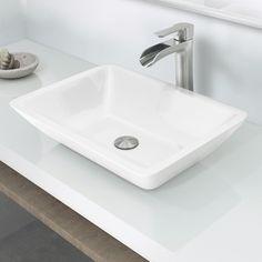 Bathroom Sinks Phoenix vigo square shaped white phoenix stone vessel sink and dior faucet