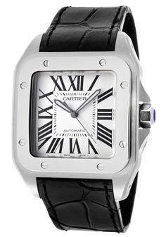 222 best Cartier images on Pinterest   Cartier watches  Luxury     Cartier W20073X8 Watches Men s Santos 100 Automatic  Men s Cartier  Automatic Watches