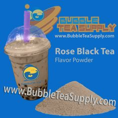 There's a hint of rose flavor and fragrance in this bubble tea powder. You have to try this new taste sensation.