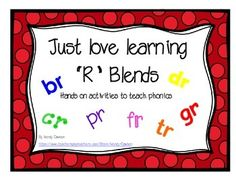 These R blend activities are great for teaching phonics, spelling, reading and vocabulary! The vocabulary aspect is especially useful for young children, ESL and Special education students.This packet includes:Choose the correct R blend page6Cut, sort and paste R blends pagesMini books for each of the L blends (br, cr, dr,  fr, gr,  pr, & tr) - 2 books per page48 color cards for sorting by the correct R blend.