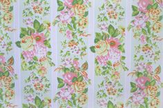 simply summer in pink yellow & green a vintage sheet by duckyhouse