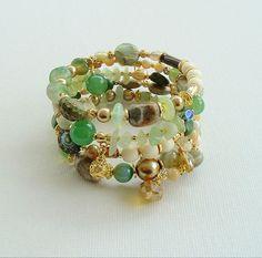 Boho Chic Bracelet Fashion Trends Bohemian Jewelry by BohoStyleMe, $78.00