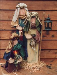 country nativity sets for yard | Aly's Room, wood patterns, country, primitive, penguin, snowman ...