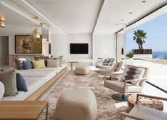 Roca Llisa is a residential project designed by SAOTA & ARRCC in 2014. It is located in Ibiza, Spain. #livingroom #interior #home