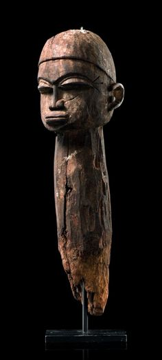 "Africa | Head stake ""baathil"" from the Lobi people of Burkina Faso 
