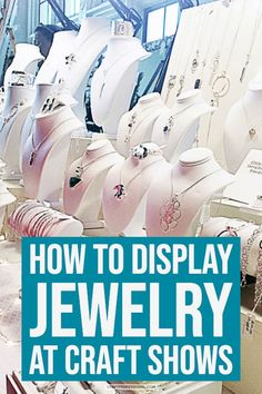 How to display jewelry at a craft show. Lots of photos of necklace display stands. Spring Arts And Crafts, Halloween Arts And Crafts, Arts And Crafts For Teens, Art And Craft Videos, Arts And Crafts House, Easy Arts And Crafts, Crafts For Seniors, Jewelry Display Stands, Necklace Display