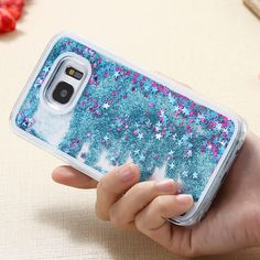 S7 /S7 Edge Dynamic Liquid Glitter Sand Quicksand Star Case for Samsung Galaxy S7 /Edge Crystal Clear Bling Cellphone Back Cover