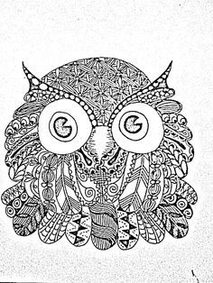 Zentangle owl (illustrator unknown)