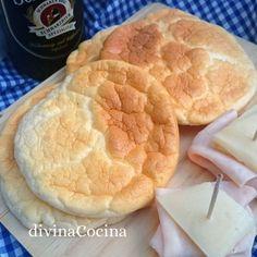 pan nube cloud brea d Dukan Diet Recipes, Healthy Low Carb Recipes, Diabetic Recipes, Keto Recipes, Snack Recipes, Cooking Recipes, Snacks, Pan Bread, Bread Baking